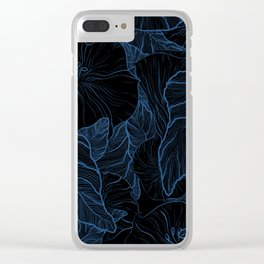 Night Bloom Clear iPhone Case
