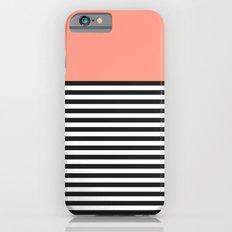 STRIPE COLORBLOCK {CORAL} iPhone 6s Slim Case