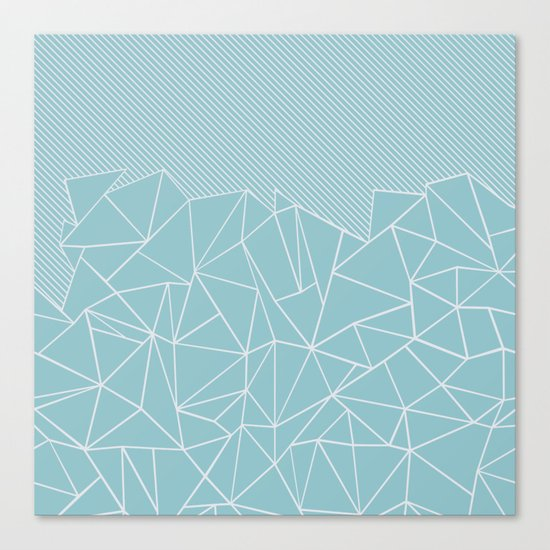 Ab Lines 45 Sea Canvas Print