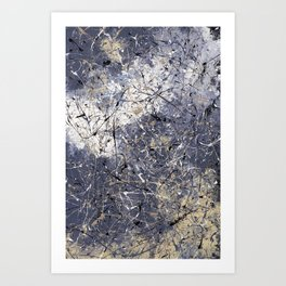 Orion - Jackson Pollock style abstract drip painting by Rasko Art Print
