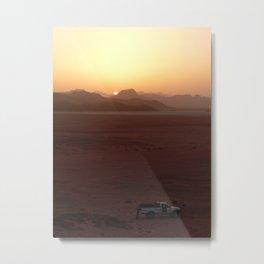 Sunset at Wadi Rhum Metal Print