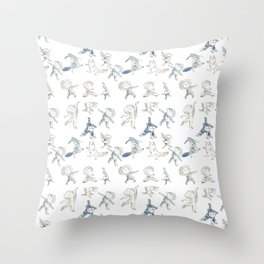 Dance kids and dancing animals Throw Pillow