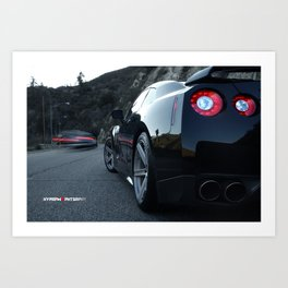 """Beside You in Time"" Nissan GT-R Waiting Art Print"