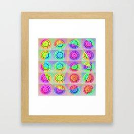 Pastel Circles Framed Art Print