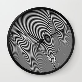 Fractal Op Art 1 Wall Clock