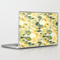yetiland Laptop & iPad Skins featuring des-integrated tartan pattern by Yetiland