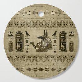 Egyptian Anubis Ornament Cutting Board