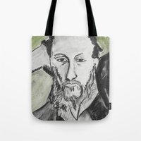 writer Tote Bags featuring Writer by black door