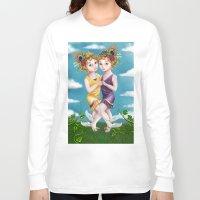 gemini Long Sleeve T-shirts featuring Gemini by Paula Ellenberger