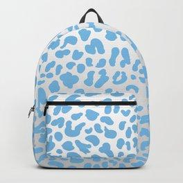 Light Blue & Silver Leopard Print Backpack