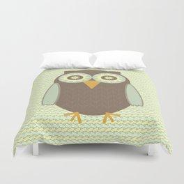 Brown Owl Duvet Cover