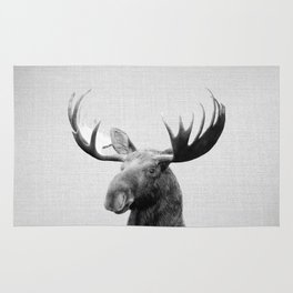 Moose - Black & White Rug