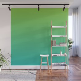 Green and Teal Gradient Wall Mural