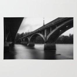 Sanctuary the Diestelhorst Bridge black and white Sacramento River Rug