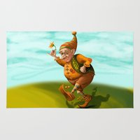 gnome Area & Throw Rugs featuring Gnome by Olga Shefranov