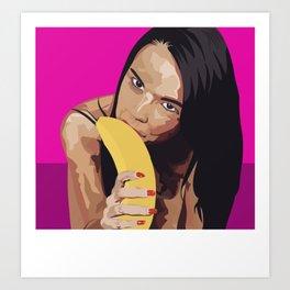 Dillion Harpers banana Art Print