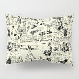 Da Vinci's Anatomy Sketchbook // Parchment Pillow Sham