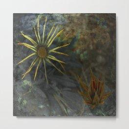 Abstract Flowers on my way - Flores abstractas en mi camino Metal Print