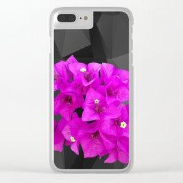 BOUGAINVILLEA Clear iPhone Case