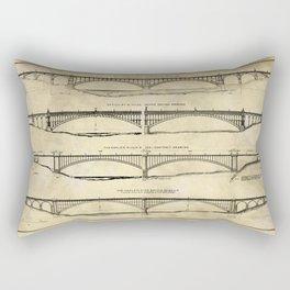 Washington Bridge Proposal Blueprint Plans Rectangular Pillow