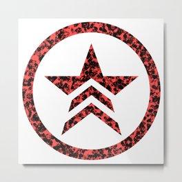 Mass Effect Renegade Metal Print
