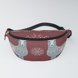 Nordic Winter Red Fanny Pack