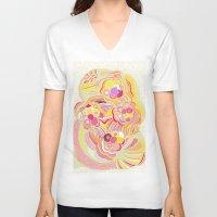 blossom V-neck T-shirts featuring Blossom  by Shakkedbaram