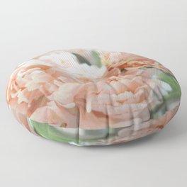 Peach Peonies Floor Pillow