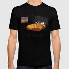 Bed Hair Day Mens Fitted Tee Black MEDIUM