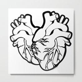 Two Hearts Metal Print