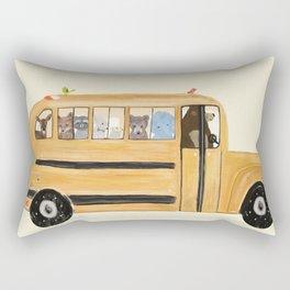 little yellow bus Rectangular Pillow