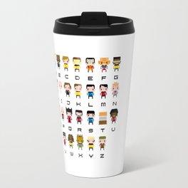 Pixel Star Trek Alphabet Travel Mug