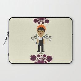 Modern Times, Charlie Chaplin, minimal movie poster, classic film, Charlot playbill Laptop Sleeve