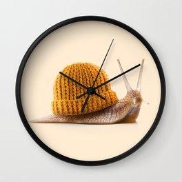 WINTER SNAIL Wall Clock