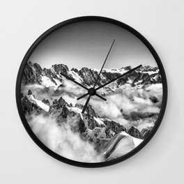 Alps in the Clouds Wall Clock