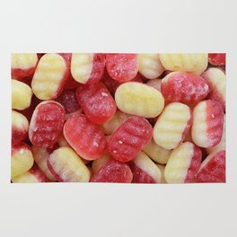 Rhubarb and custard Rug