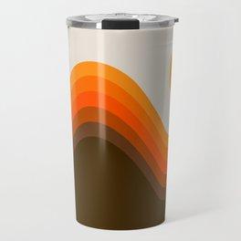 Golden Horizon Diptych - Left Side Travel Mug