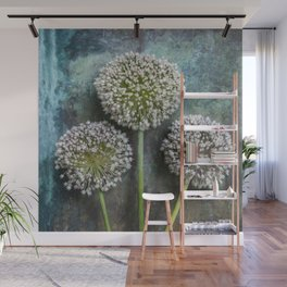 Three Allium Flowers Wall Mural