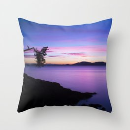 Vibrant Sunset Throw Pillow