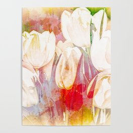 Tulip Fever Abstract Art Poster