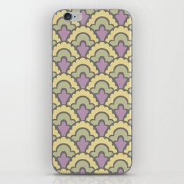 Fan Pattern Yellow Lavender and Green 408 iPhone Skin