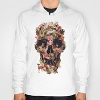 collage Hoodies featuring Jungle Skull by Ali GULEC