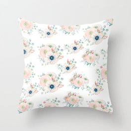 Dog Rose Pattern 2 Throw Pillow