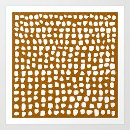 Dots (Cinnamon) Art Print