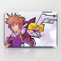 kingdom hearts iPad Cases featuring Kingdom Hearts 2 - Sora by Outer Ring