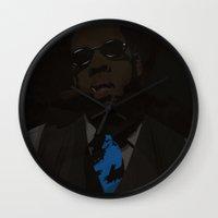 jay z Wall Clocks featuring Jay-Z (Texture) by Shyam13