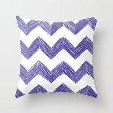 Classic Chevrons in Blue-Purple Throw Pillow