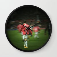 ronaldo Wall Clocks featuring Ronaldo by Shyam13