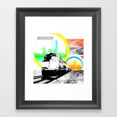Locals Only - Boston Framed Art Print
