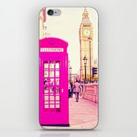 telephone iPhone & iPod Skins featuring TELEPHONE  by Ylenia Pizzetti